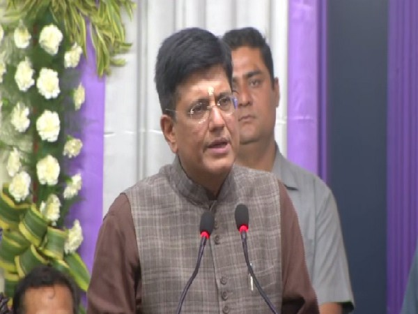 Union Railway Minister Piyush Goyal speaking at the event in Kolkata, West Bengal, on Thursday. Photo/ANI