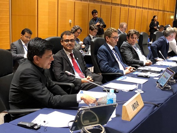 Piyush Goyal participating in a G20 ministerial meeting on Trade and Digital Economy held in Japan on Saturday