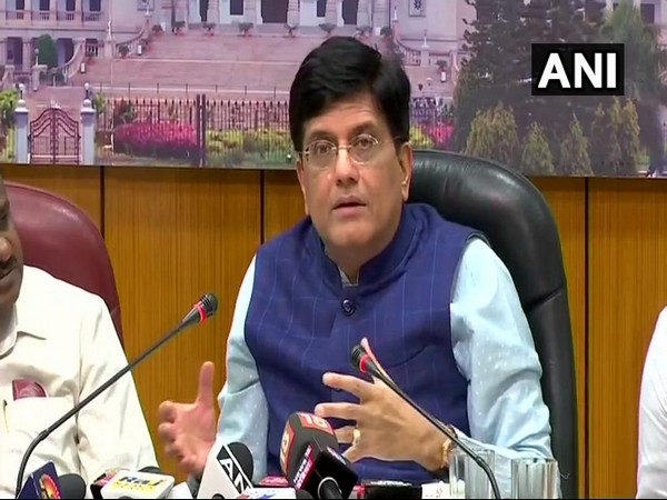 Union Minister Piyush Goyal addressing a press conference in Bengaluru on Friday