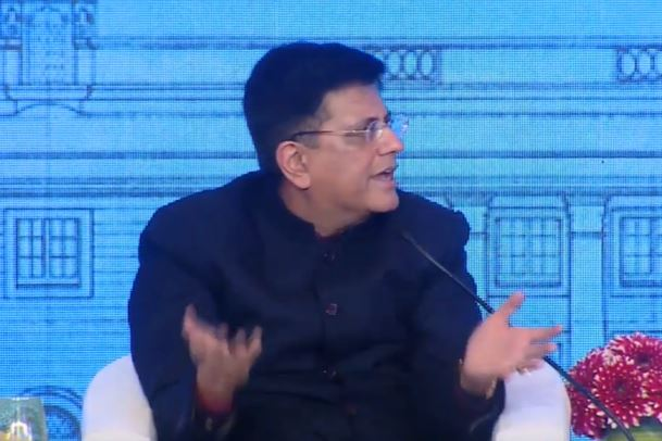 Union Commerce Minister Piyush Goyal speaking at the Raisina Dialogue 2020 in New Delhi on Thursday. (photo/ORF twitter handle)