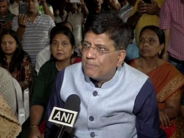 Union Minister Piyush Goyal talking to ANI at Ahmedabad on Saturday