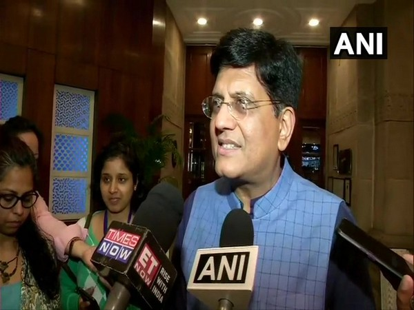 Union Minister Piyush Goyal speaking to media persons in New Delhi on Monday