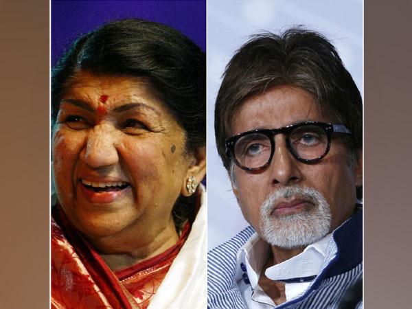 Lata Mangeshkar and Amitabh Bachchan