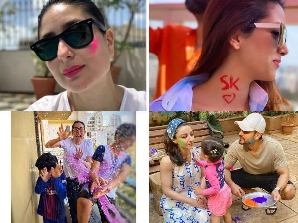 Actors Kareena Kapoor Khan, Karisma Kapoor with sons, Soha Ali Khan with Kunal Khemu and daughter and Mira Kapoor (Image Source: Instagram)