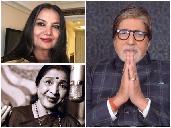 Actors Amitabh Bachchan, Shabana Azmi and legendary singer Asha Bhosle (Image courtesy: Instagram)