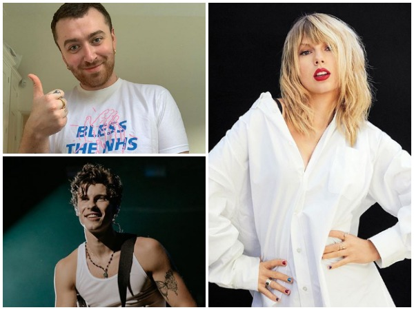 Singers Taylor Swift, Sam Smith and Shawn Mendes (Image courtesy: Instagram)