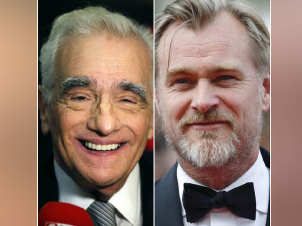 Filmmakers Martin Scorsese, Christopher Nolan