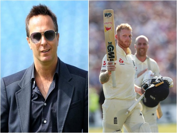 Michael Vaughan (L) and Ben Stokes (R)