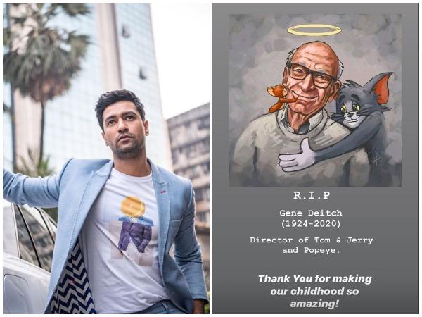 Actor Vicky Kaushal honours Oscar-winning illustrator Gene Deitch (Image courtesy: Instagram)