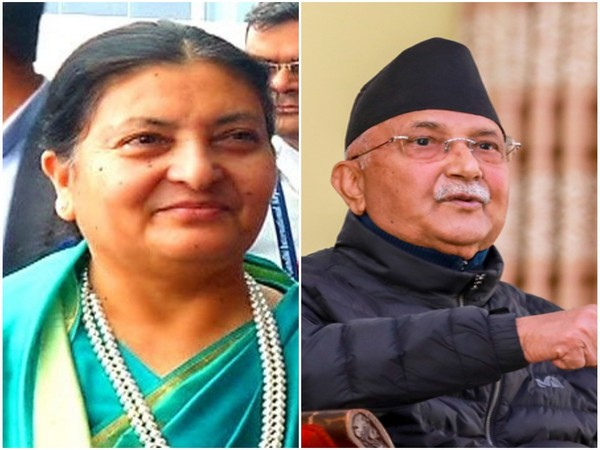 Nepal President Bidya Devi Bhandari and Prime Minister KP Sharma Oli (L-R)