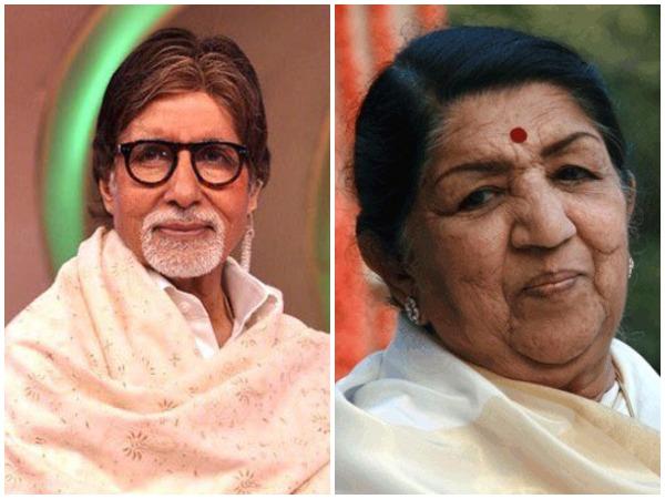 Amitabh Bachchan, Lata Mangeshkar
