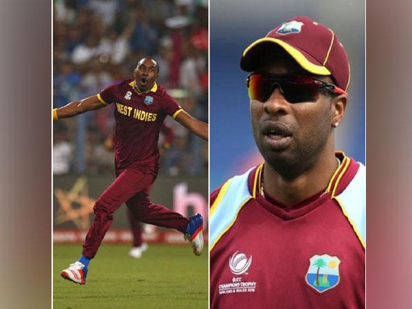 West Indies cricketers Dwayne Bravo and Keiron Pollard