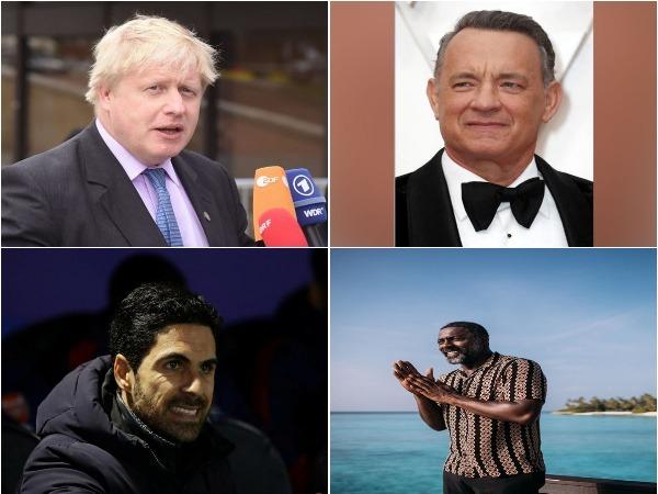 Boris Johnson, Tom Hanks, Mikel Arteta and Idris Elba