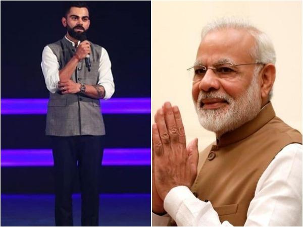 Virat Kohli (L) and Narendra Modi (R)