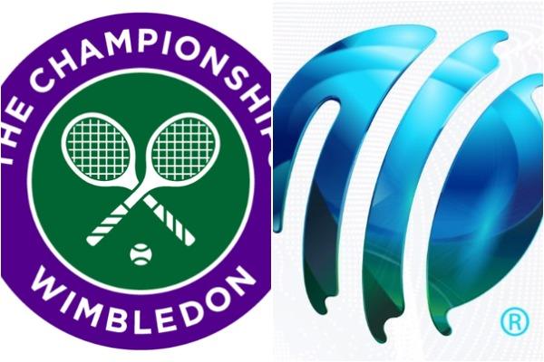 Wimbledon Logo (L) and ICC Logo (R)