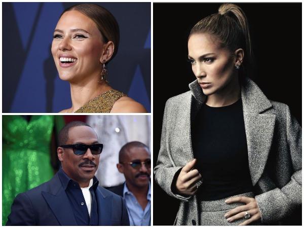 From top Scarlett Johansson, Jennifer Lopez and Eddie Murphy (Image courtesy: Instagram)
