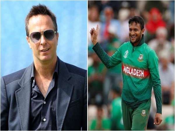 Michael Vaughan (L) and Shakib Al Hasan (R)
