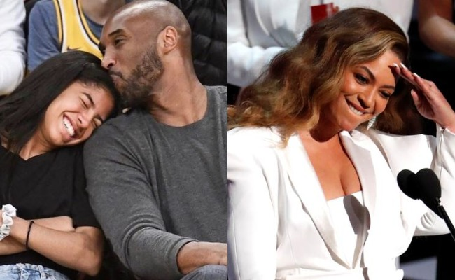Kobe Bryant with daughter Gianna, Beyonce
