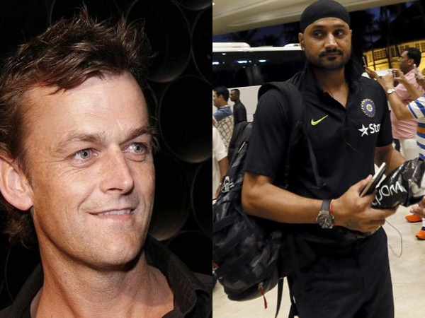 Adam Gilchrist (L) and Harbhajan Singh (R)