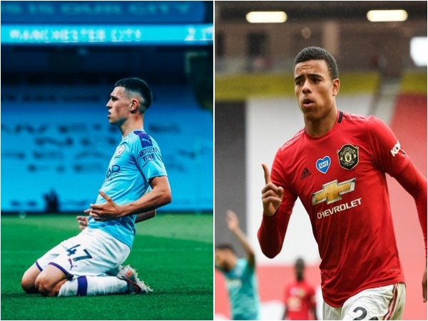 Phil Foden (L) and Mason Greenwood (R)
