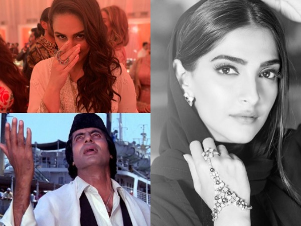 Actors Sonam Kapoor Ahuja, Amitabh Bachchan and Huma Qureshi (Image Source: Instagram)