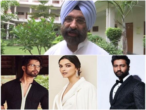 Shiromani Akali Dal Manjinder Singh Sirsa, Shahid Kapoor, Deepika Padukone and Vicky Kaushal, Image courtesy: Instagram