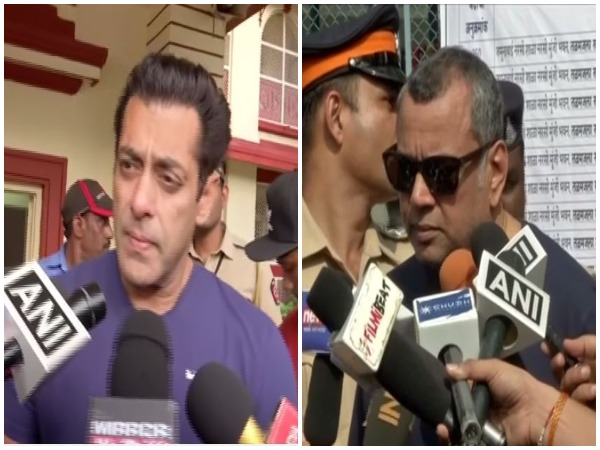Salman Khan and Paresh Rawal while casting their vote in Mumbai