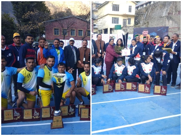 Himachal Police team (L) and SAI Hostel Dharamshala team (R).