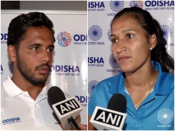 Harmanpreet Singh (L) and Rani Rampal (R)