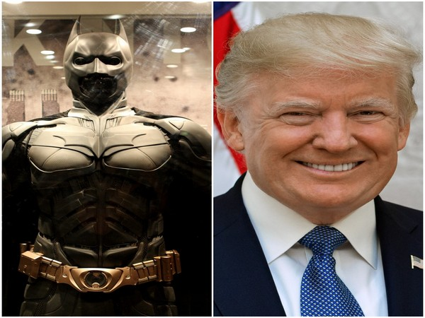 The character Batman from the film 'The Dark Knight Rises' and US President Donald Trump