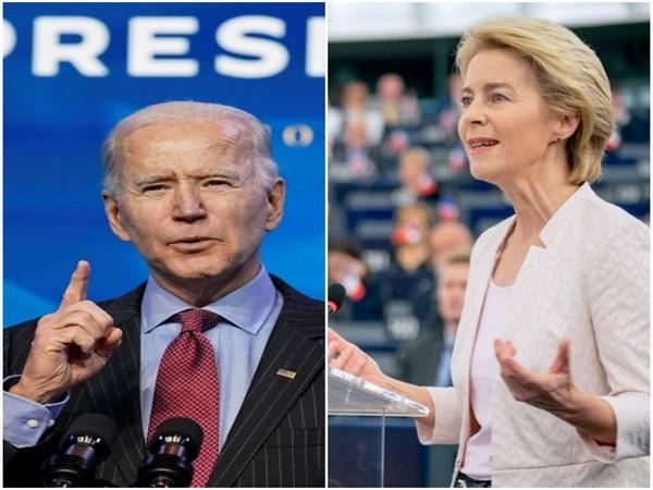 US President Joe Biden and European European Commission (EC) President Ursula von der Leyen