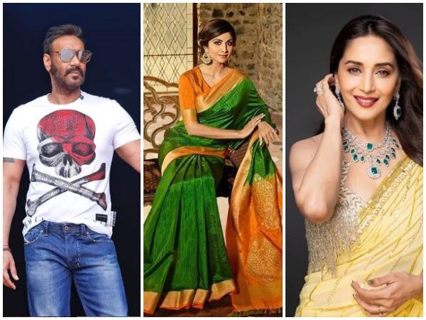 Ajay Devgn, Shilpa Shetty, Madhuri Dixit (picture courtesy: Instagram)