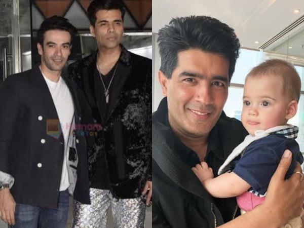 Karan Johar's close friends Manish Malhotra and Punit Malhotra (Image Source: Instagram)