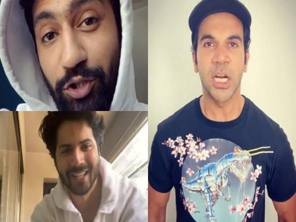 Actors Vicky Kaushal, Varun Dhawan, and Rajkummar Rao (Image Source: Instagram)