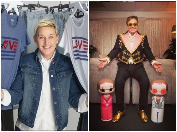 Ellen DeGeneres and John Elton (Image courtesy: Instagram)