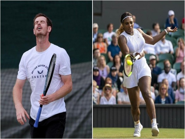Andy Murray (L) and Serena Williams (R)