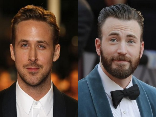 Actors Ryan Gosling and Chris Evans