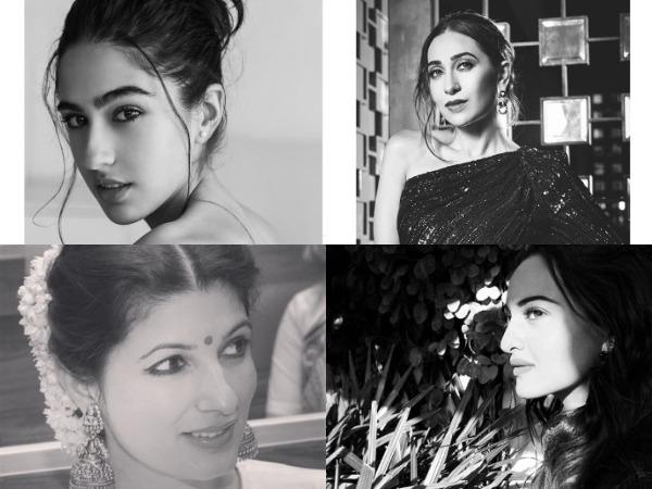 Actors Sara Ali Khan, Karisma Kapoor, Sonakshi Sinha, and Twinkle Khanna (Image Source: Instagram)