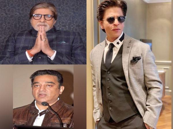 Superstars Amitabh Bachchan, Shah Rukh Khan and Kamal Haasan (Image Source: Social Media/File)