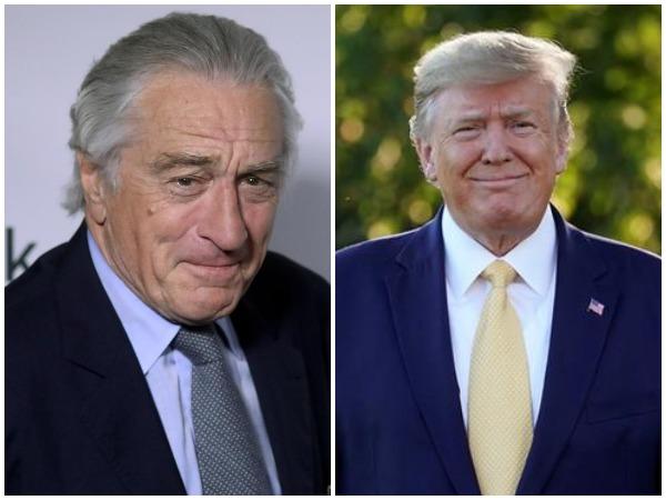 Robert De Niro (L), US President Donald Trump (R)
