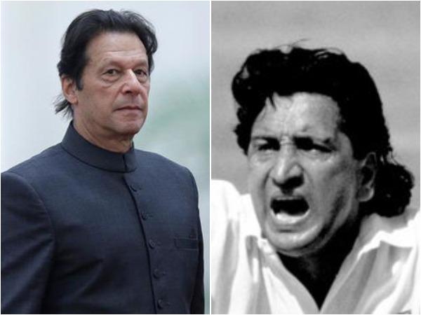 Imran Khan (L) and Abdul Qadir (R)