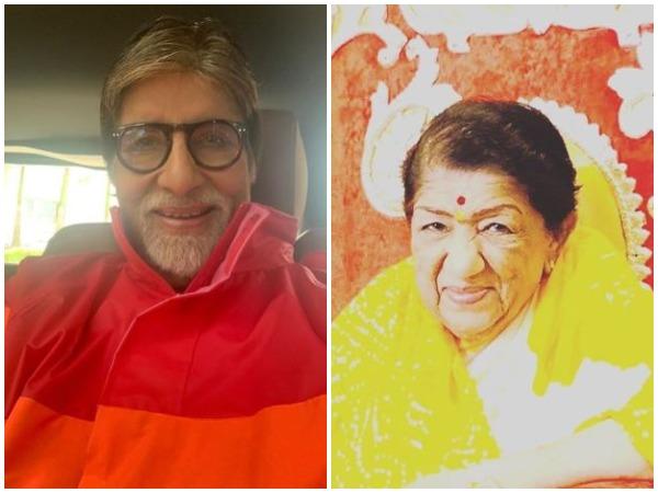 Amitabh Bachchan and Lata Mangeshkar (Image courtesy: Instagram)