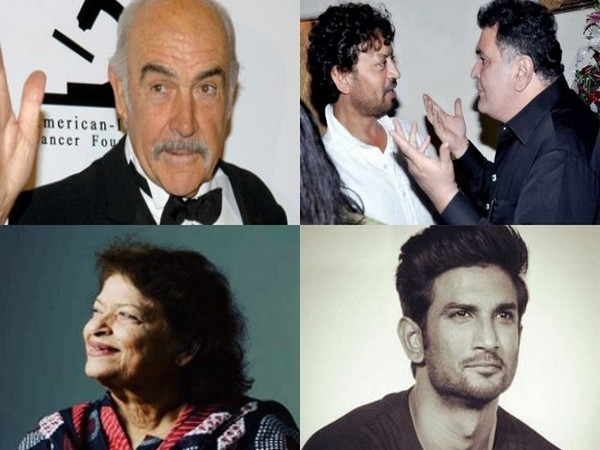 Late actors Sean Connery, Irrfan Khan, Rishi Kapoor, Sushant Singh Rajput and late choreographer Saroj Khan (Image Source: social media)
