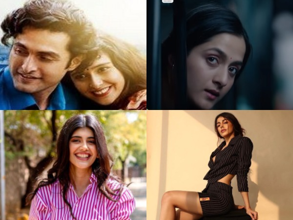 Actors Aadil Khan, Sadia Khateeb, Arushi Sharma, Alaya Furniturewalla and Sanjana Sanghi (Image Source: Instagram/YouTube)