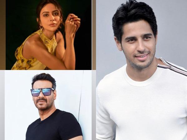 Actors Rakul Preet Singh, Sidharth Malhotra and Ajay Devgn (Image Source: social media)