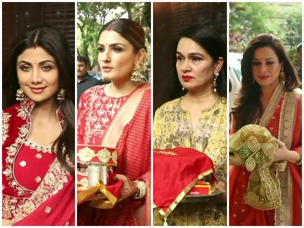 Shilpa Shetty, Raveena Tandon, Padmini Kolhapure, Neelam Kothari