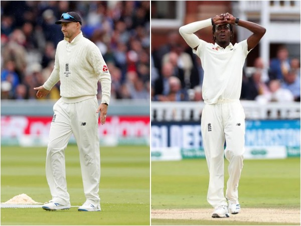 England skipper Joe Root (L) and pacer Jofra Archer (R)
