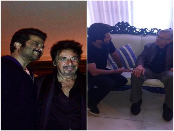 Anil Kapoor with Al Pacino and Robert De Niro (Image source: Twitter)