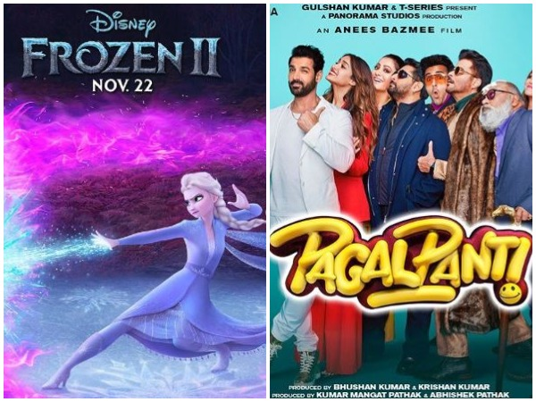 'Frozen 2' and 'Pagalpanti' poster (Image Courtesy: Instagram)