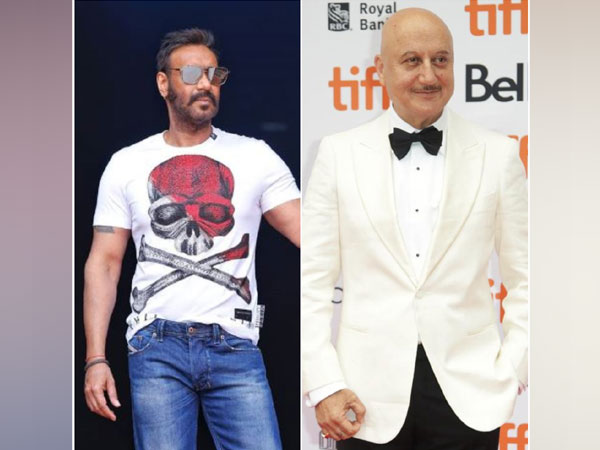 Ajay Devgn and Anupam Kher (picture courtesy: Instagram)